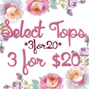 Tops - *3for20* Select tops0 on sale